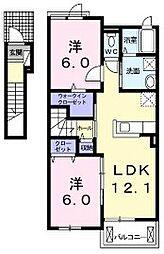 グランツオーベル 正明寺II[2階]の間取り