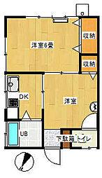 第二丸誠荘[101号室]の間取り