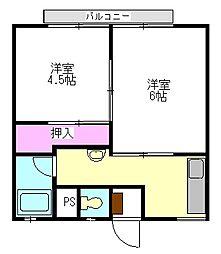 [テラスハウス] 群馬県伊勢崎市今泉町2丁目 の賃貸【/】の間取り