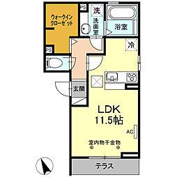 エスペランサS 5[1階]の間取り