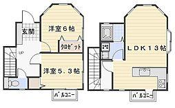 [テラスハウス] 神奈川県鎌倉市二階堂 の賃貸【神奈川県 / 鎌倉市】の間取り