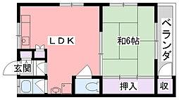 マンション幸[4階]の間取り