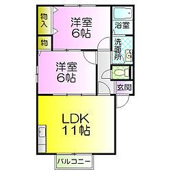 クレールアビタシオンkonishi[2階]の間取り