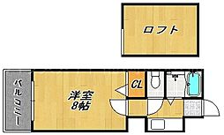 エグゼクティブハウス高砂[2階]の間取り