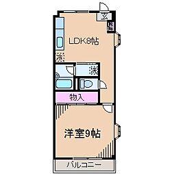 神奈川県川崎市高津区子母口の賃貸マンションの間取り