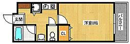 ルミエールマゴジ3[305号室]の間取り