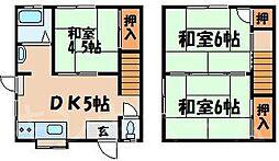 [テラスハウス] 広島県安芸郡坂町坂東1丁目 の賃貸【/】の間取り