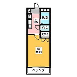 カーサU[2階]の間取り