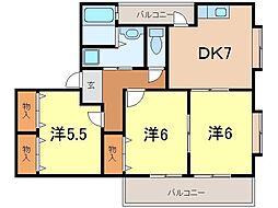 ロックハウス2[1階]の間取り
