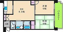 幸田マンション[706号室]の間取り