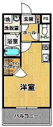 ゴールドクレスト天久保[106号室]の間取り
