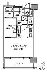 パークアクシス六本松[1203号室]の間取り