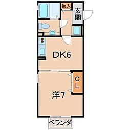 リビングタウン紀三井寺 A棟[1階]の間取り
