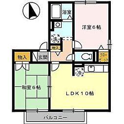 ミキカメディアマンション A棟[201号室]の間取り