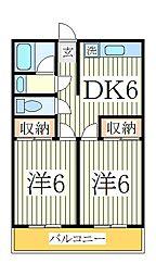 浜田第一マンション[2階]の間取り