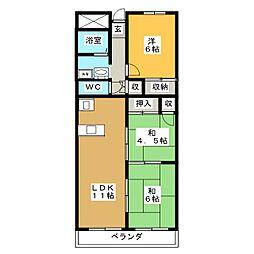 グレイスミヤ田町[3階]の間取り