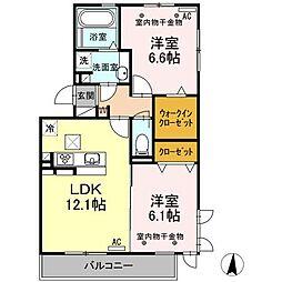 仮称)D-room原島[1階]の間取り