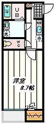 埼玉県さいたま市北区今羽町の賃貸アパートの間取り
