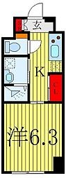 東京メトロ有楽町線 要町駅 徒歩2分の賃貸マンション 1階1Kの間取り
