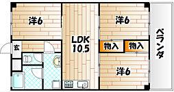 ハイツシーサイドI[2階]の間取り