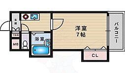 イーグルマンション 5階1Kの間取り