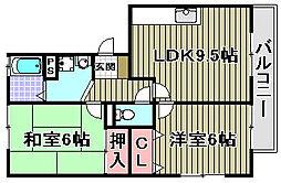パークハウス一・二番館[1-102号室]の間取り
