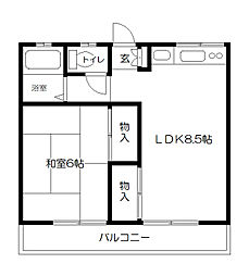 ときわ荘[2階]の間取り