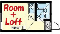 神奈川県横浜市鶴見区寛政町の賃貸アパートの間取り