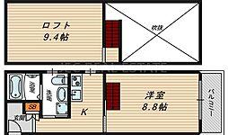 DUOMO TENROKU[5階]の間取り