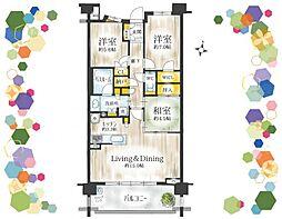 最上階南向き、広々80平米、室内設備充実。
