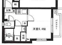 東京メトロ丸ノ内線 中野新橋駅 徒歩4分の賃貸マンション 3階1Kの間取り