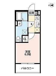 兵庫県尼崎市大庄西町3丁目の賃貸アパートの間取り
