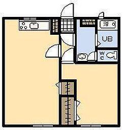 サンミラ-ジュ 1[1階]の間取り