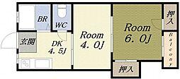 ハイツフジII[2階]の間取り