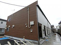 埼玉県草加市神明1丁目の賃貸アパートの外観