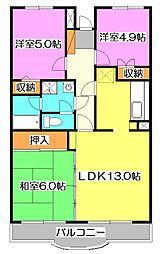 エスポワール新座[4階]の間取り