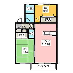 タウンズ碧 B棟[2階]の間取り