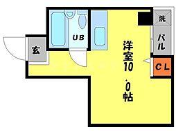 ファンシー都島[4階]の間取り