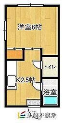 福岡県古賀市天神1丁目の賃貸アパートの間取り