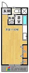 ロックフィル安武[208号室]の間取り