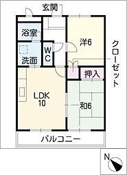 アーバン藤川II[2階]の間取り
