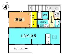 Hana1番館[2F号室]の間取り