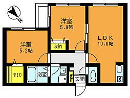 埼玉県志木市幸町4丁目の賃貸アパートの間取り