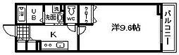 大阪府貝塚市北町の賃貸アパートの間取り