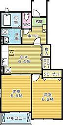 プリムローズF Ⅰ[1階]の間取り