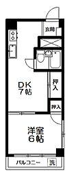 下井草ワコー第6マンション[204号室]の間取り