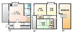 [タウンハウス] 兵庫県神戸市垂水区宮本町 の賃貸【/】の間取り