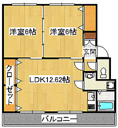 MESSAGE三島幸原[3階]の間取り
