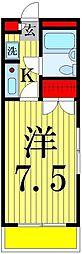 フラワーシティ亀有[205号室]の間取り