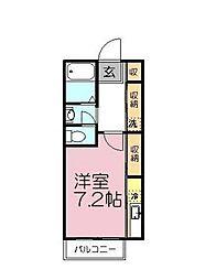 Le Village Yachiyo[203号室]の間取り